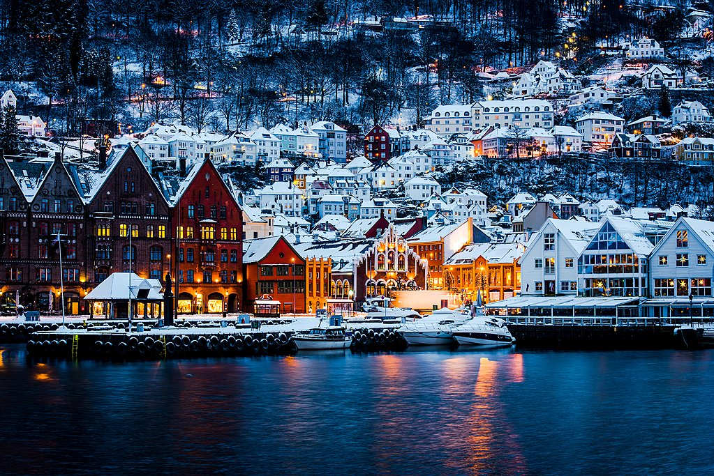 Bergen is arguably even more scenic during winter months