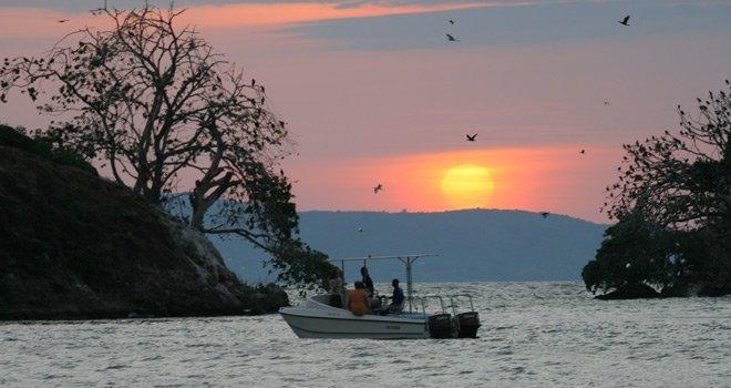 Boat off Rusinga Island