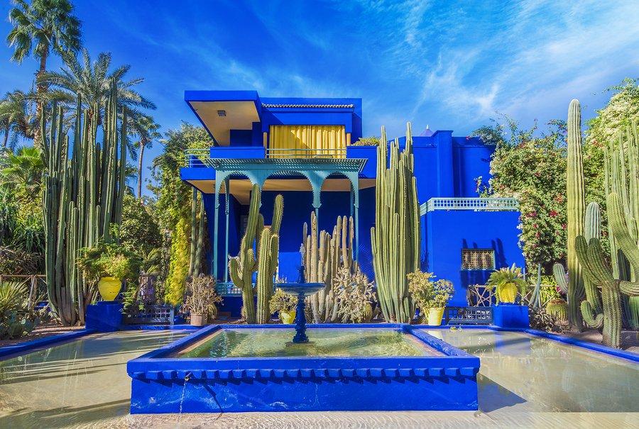 Majorelle Gardens in Ville Nouvelle, Marrakech, Morocco