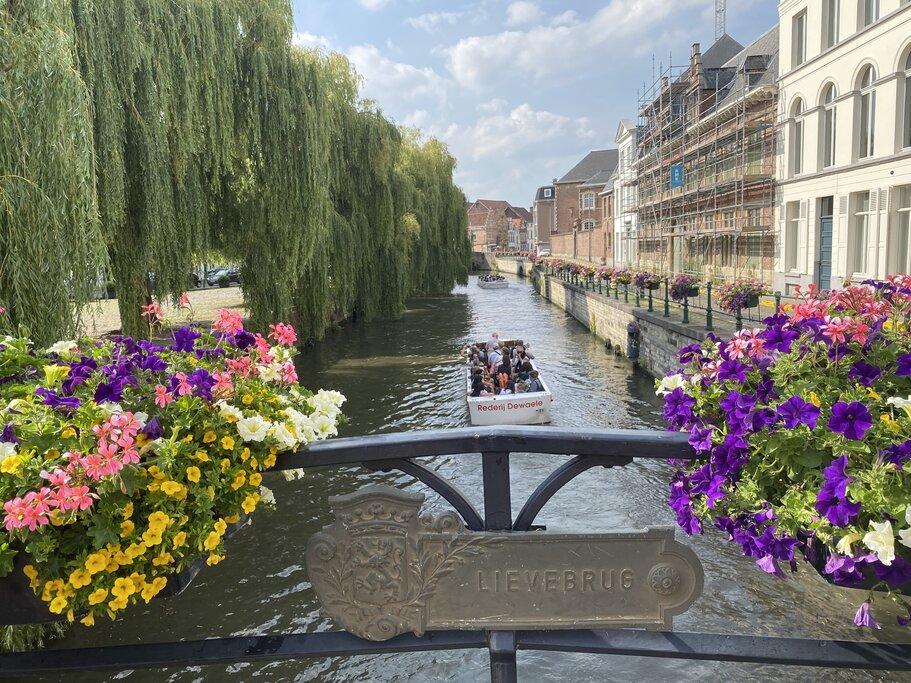 Lievebrug Bridge in Ghent