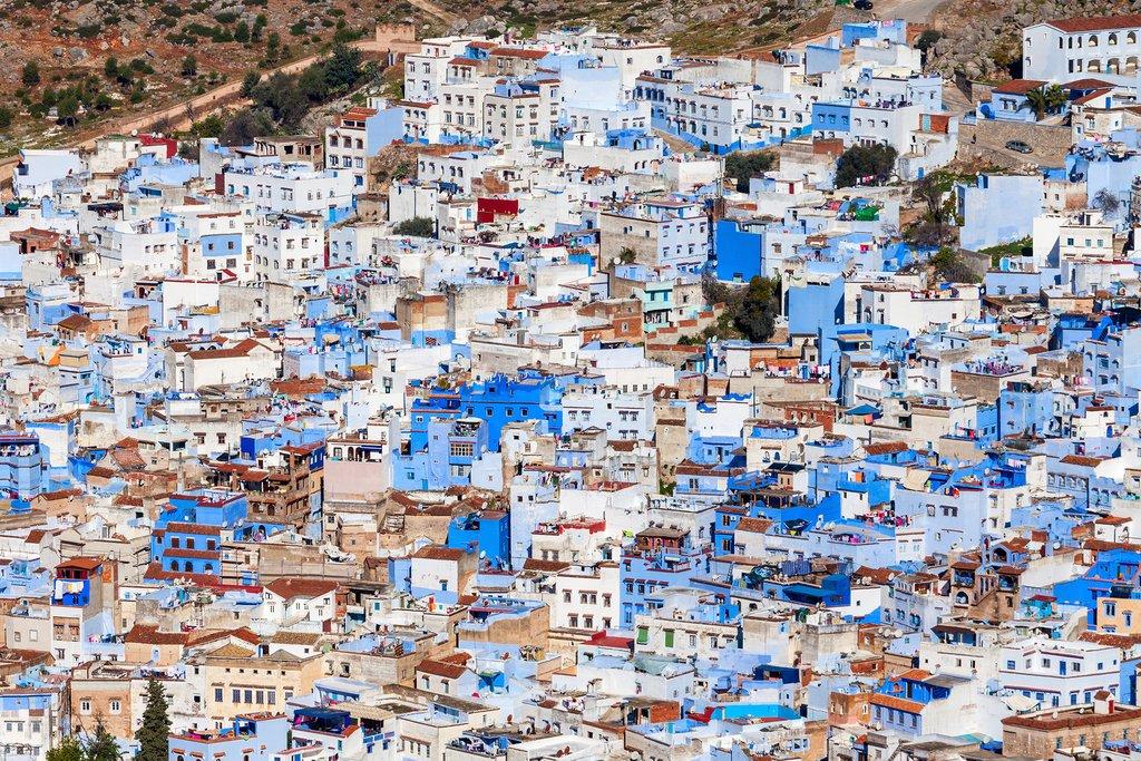 "Morocco's famous ""Blue City,"" Chefchaouen"