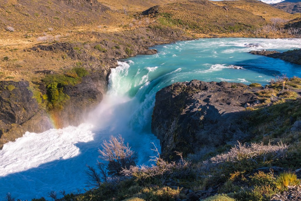 Waterfall Torres del Paine