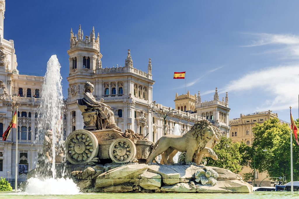 The fountain of Cibeles is a beloved Madrid landmark