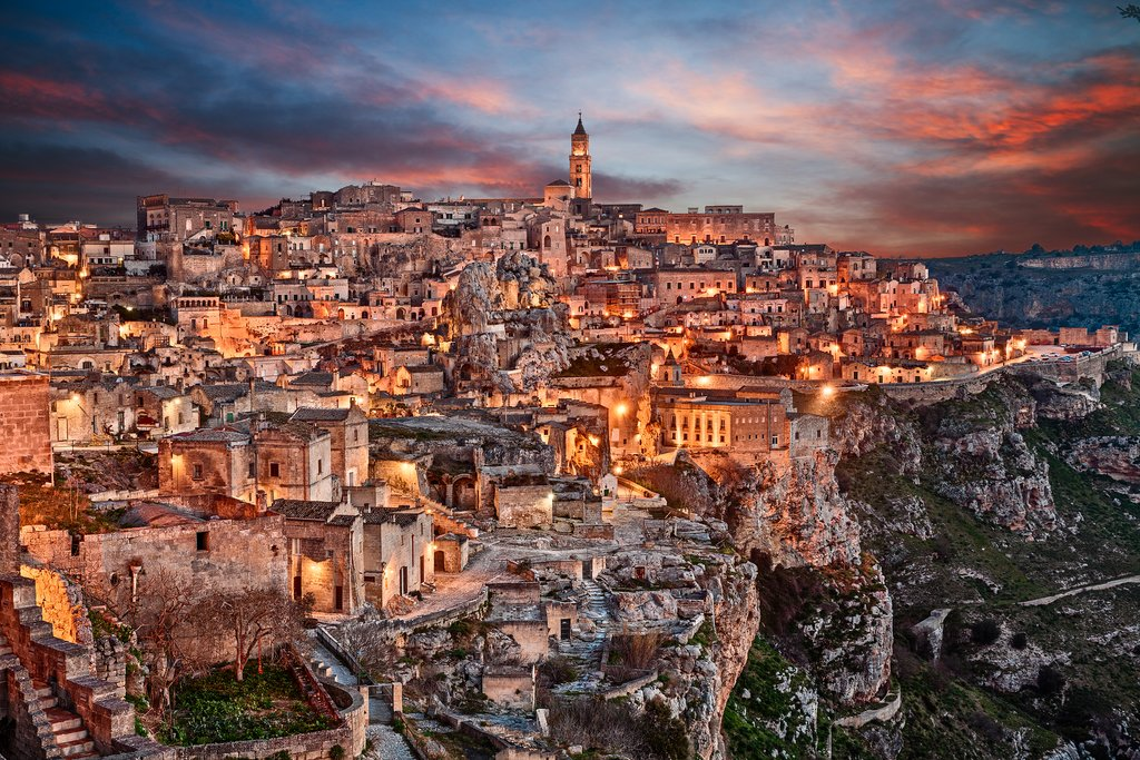The Stunning City of Matera at Night