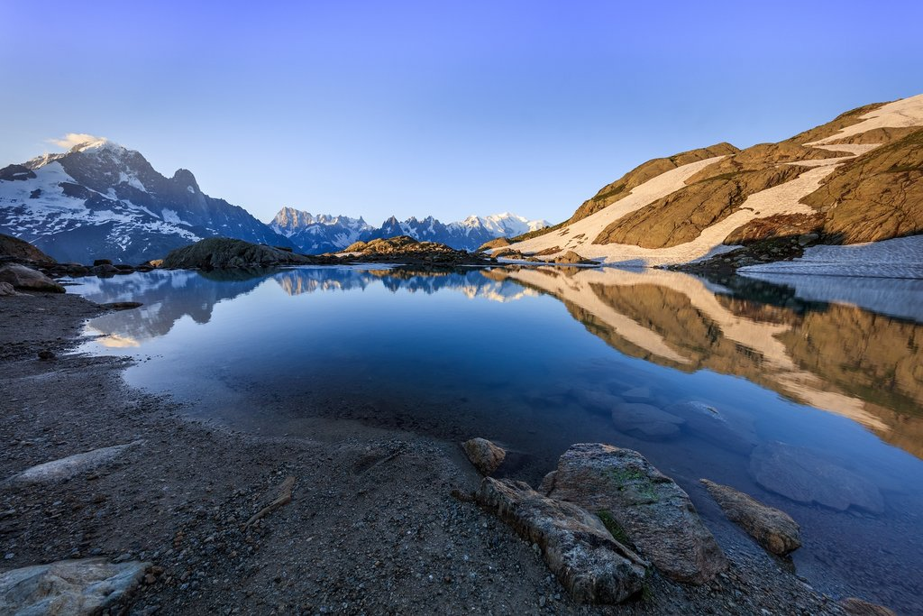 Grandes Jorasses seen from Lac Blanc
