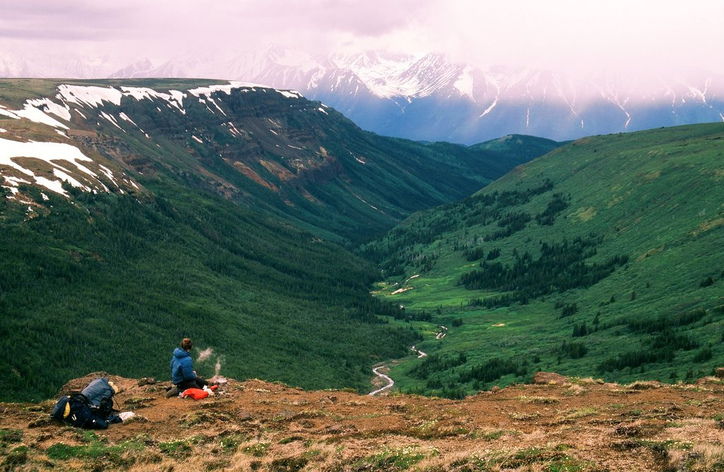 Wilderness trek through Mount Edziza Provincial Park in northern BC