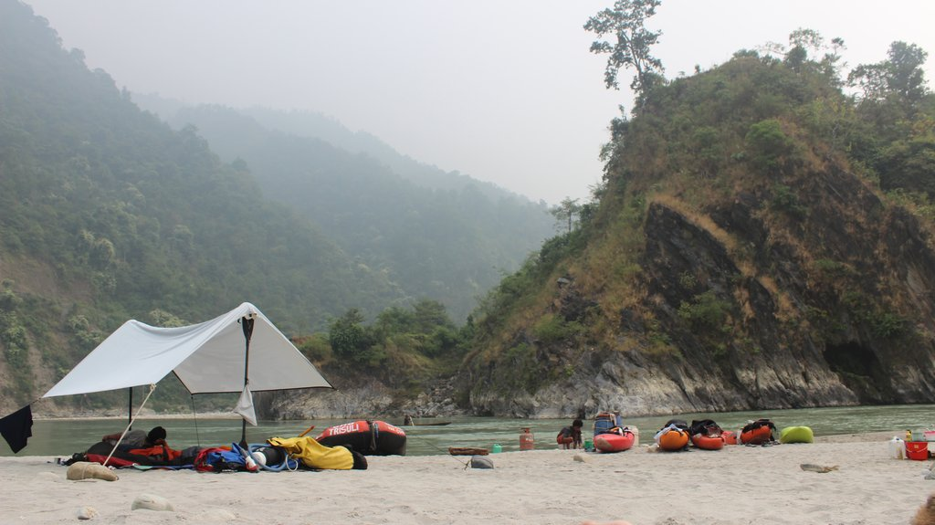 Camp along the Seti River