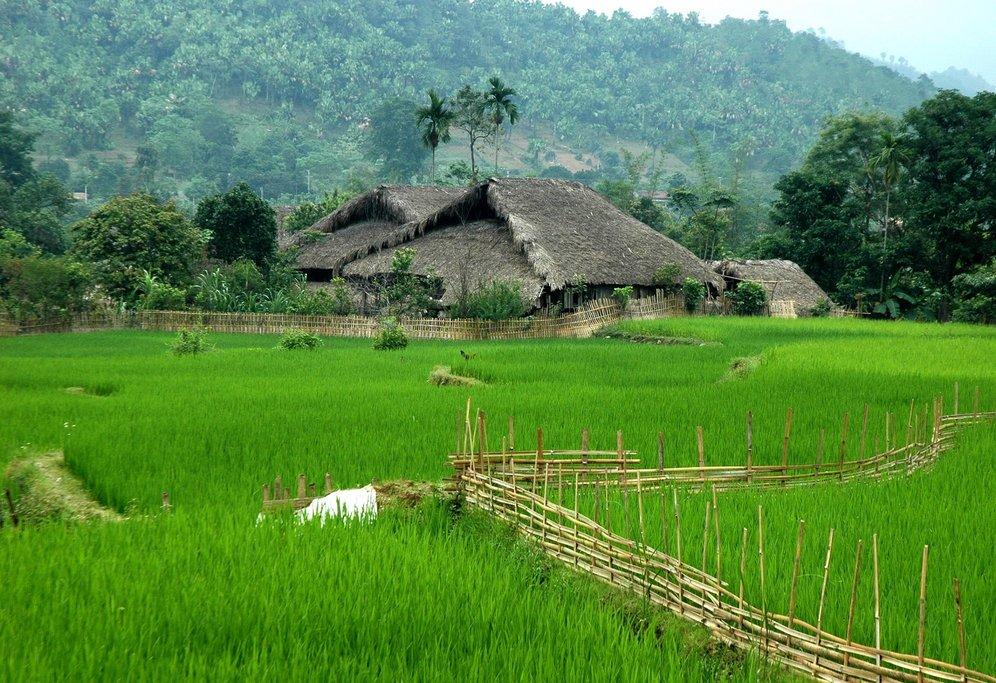 Peaceful village on the trek route