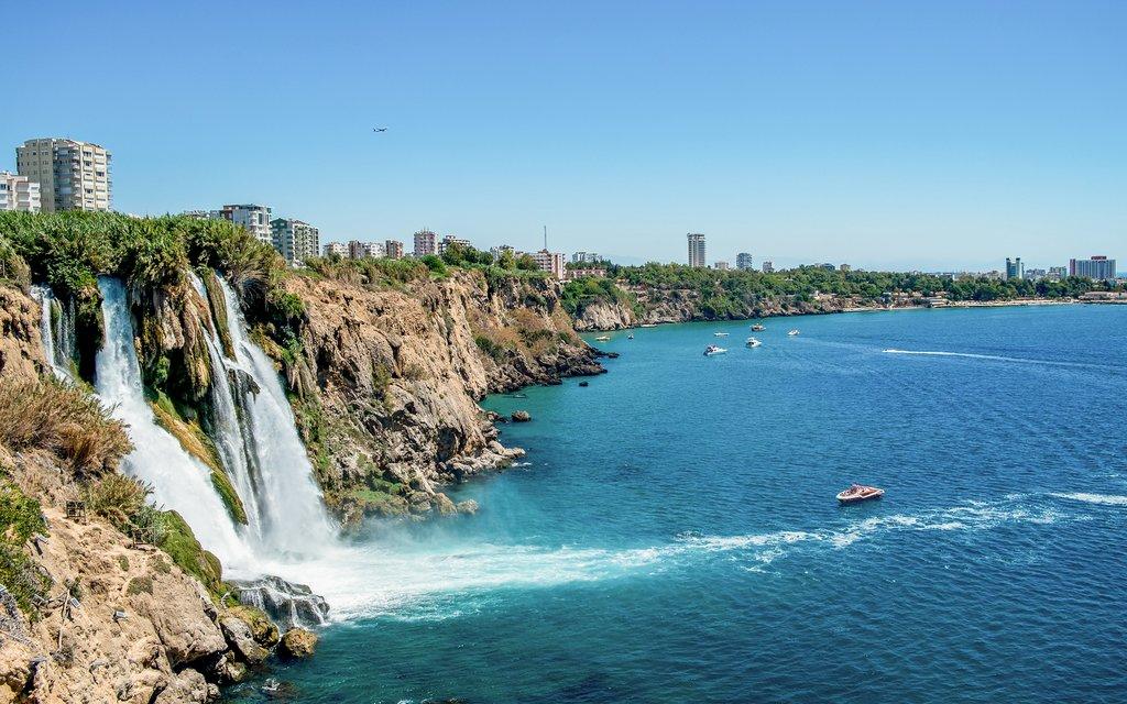 Duden Waterfall in Antalaya