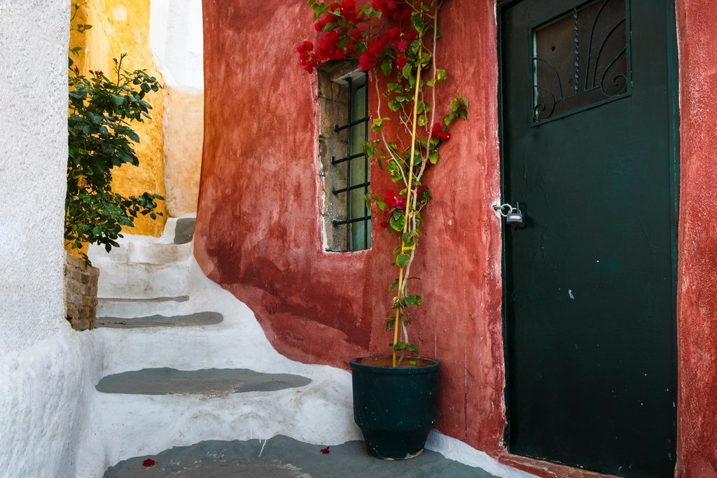 Colorful Athens buildings