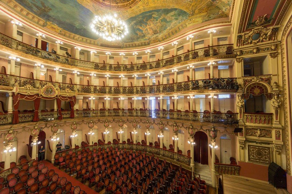 Interior of Amazonas Theatre in Manaus