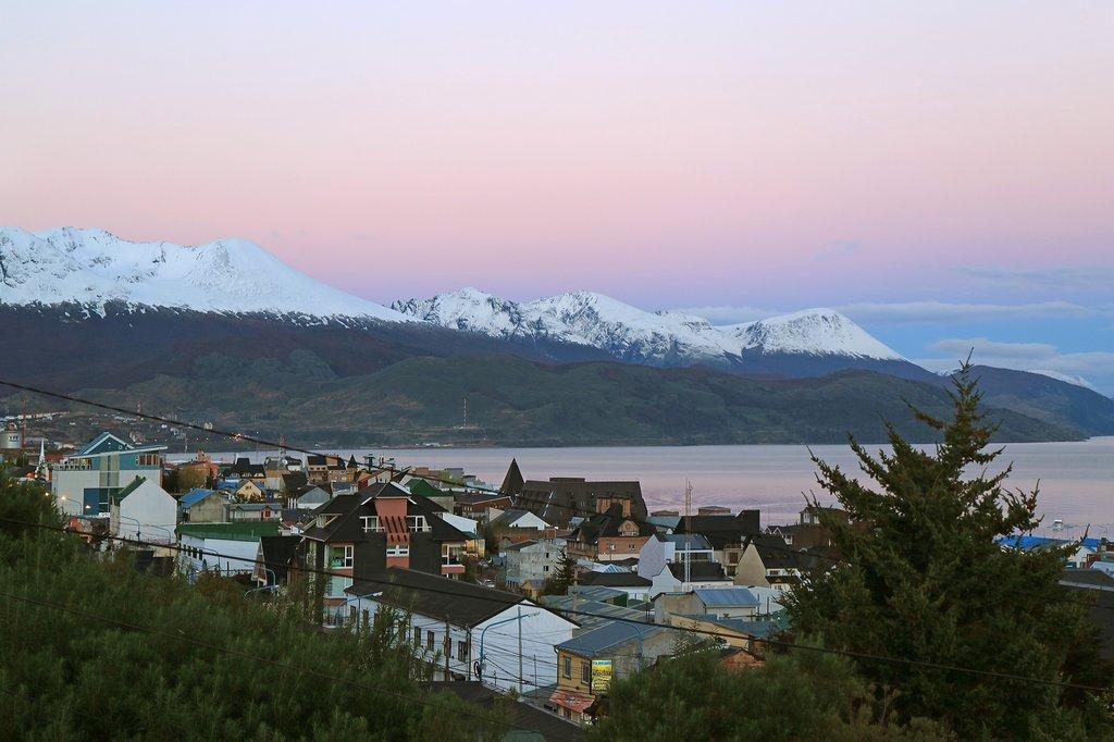 Ushuaia at sunset