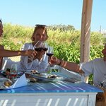 Taste Wine from the Farm with Your Meal - Photo from Mykonos Vioma Organic Farm