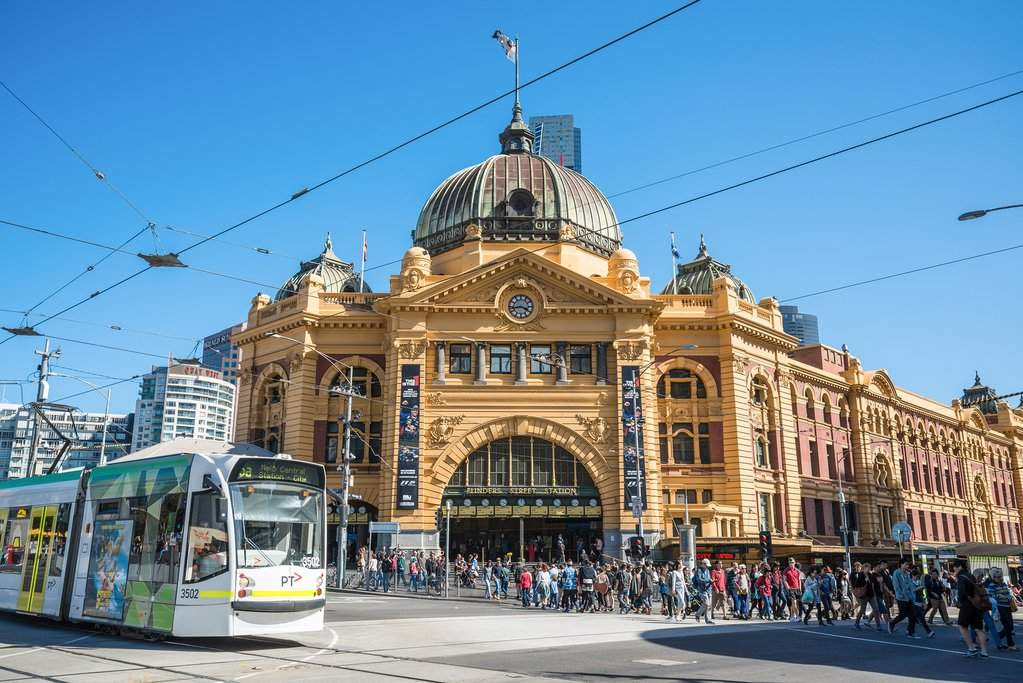 Australia - Melbourne - Flinders Railway Station