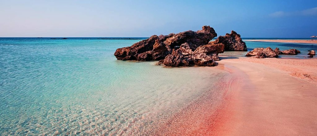 Pink sands of Elafonissi Beach