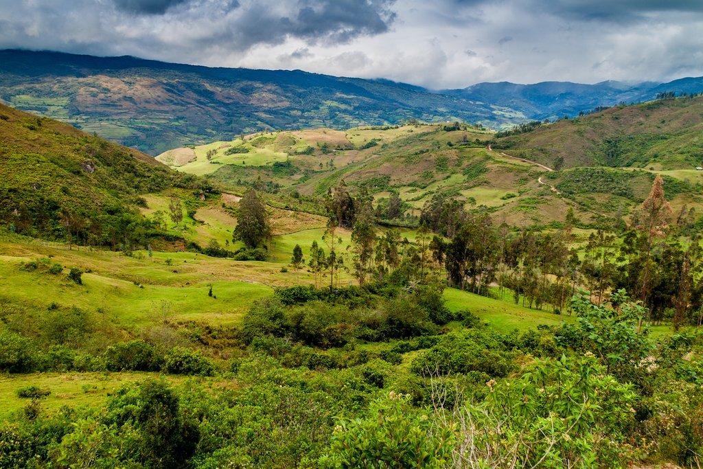 Countryside landscapes around Leymebamba