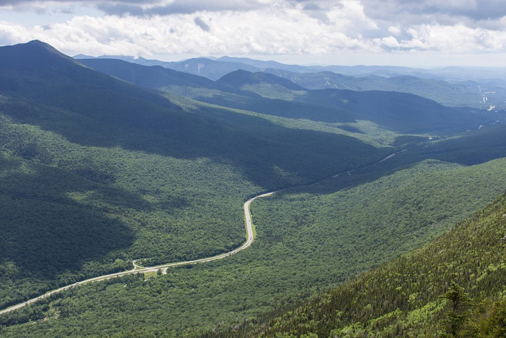 Franconia Notch in the White Mountains