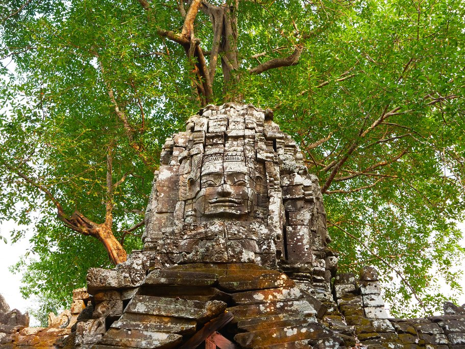 Stone Rock at the Ruins of Ta Som Temple