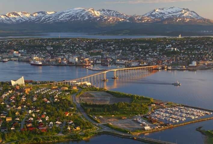 Overhead view of Tromsø