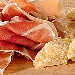 Parma ham and Parmesan