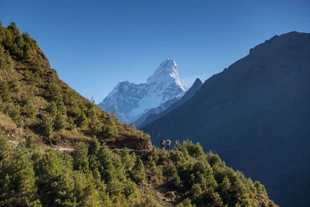 Great views of Ama Dablam along the trail from Namche Bazaar to Tengboche