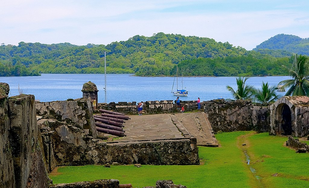 The ruins of a colonial fortress in Portobelo