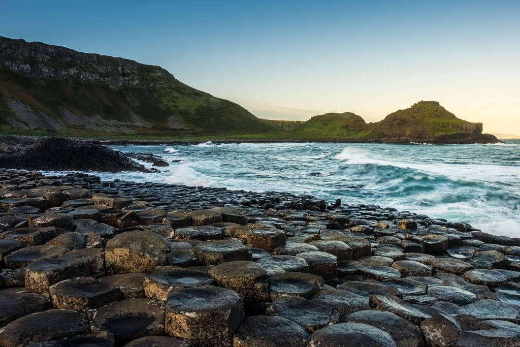 The basalt columns of Giant's Causeway.