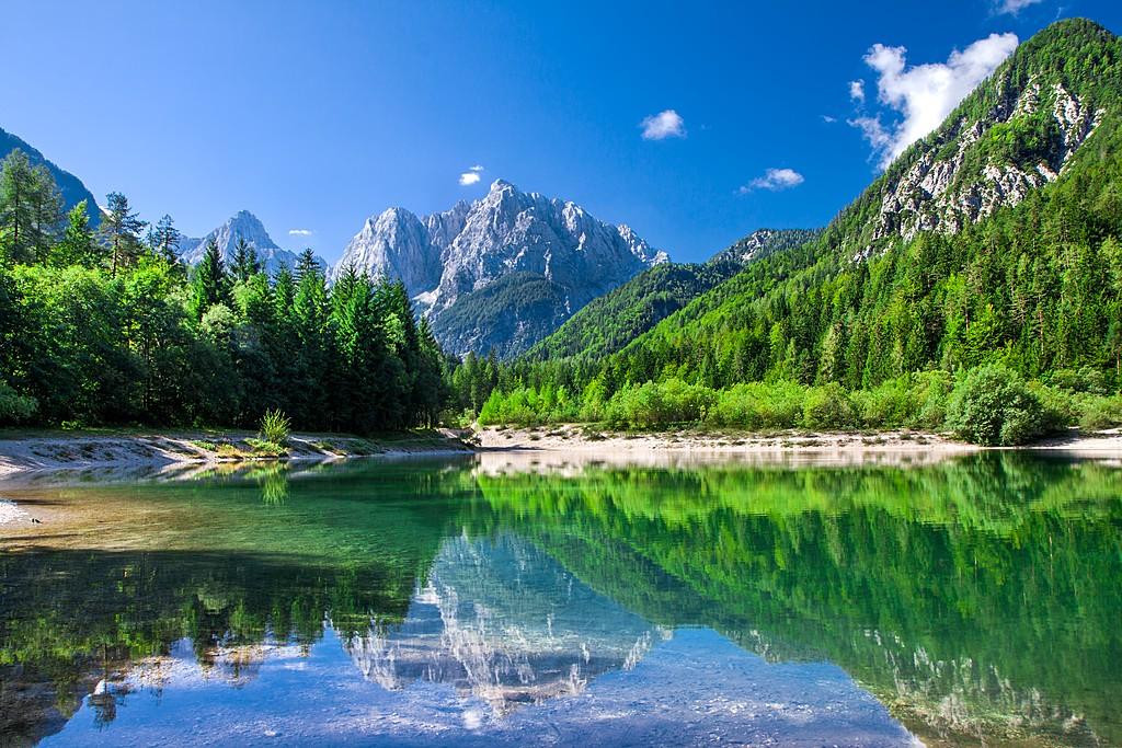 Begin your hike in the Julian Alps