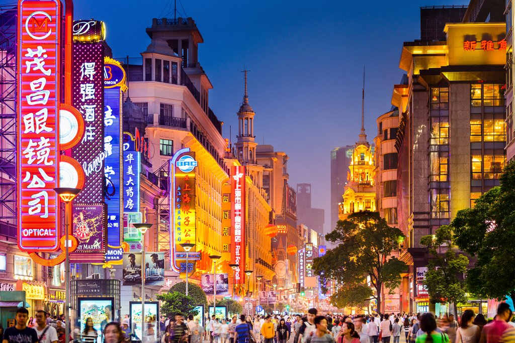 Shanghai is a bustling metropolis that is a mix of old and new