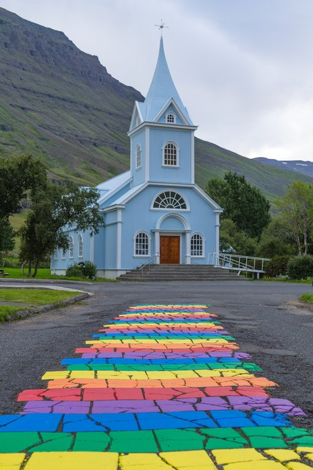 Seydisfjordur Church in Iceland