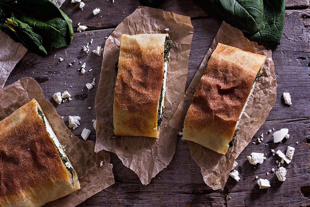 Traditional Greek Stuffed Bread