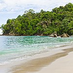 Relax on the sand in Manuel Antonio