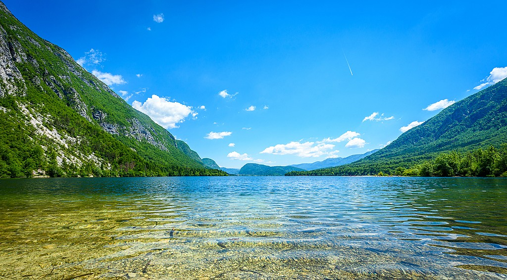 Lake Bohinj is known for its crystal clear water