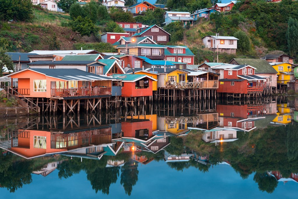 The Palafitos de Gamboa (stilt houses) of Castro, Chiloé