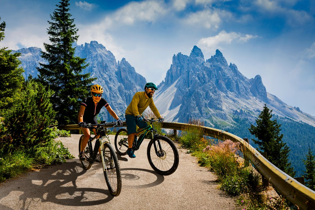 See one of the natural wonders of Italy by bike