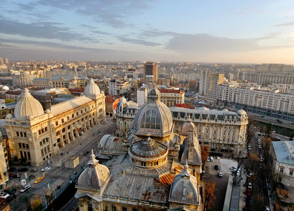 Aerial view of Bucharest