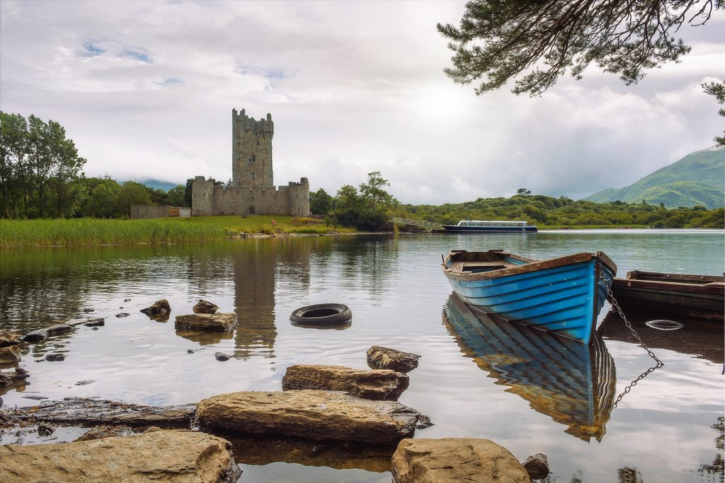 Ross Castle at Lough Leane, Lakes of Killarney