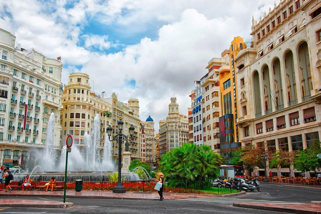 Town Hall Square, Valencia, Spain