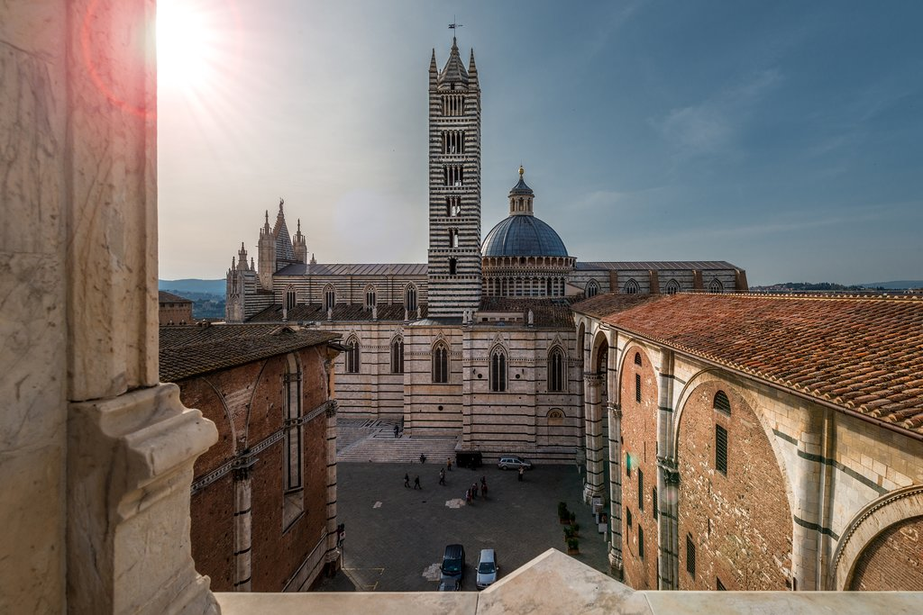 A view of Siena's historic cathedral