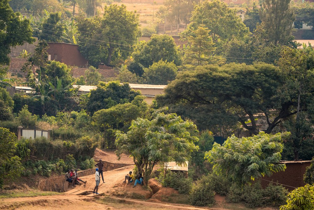 A hillside in Nyamirambo, a neighborhood of Kigali