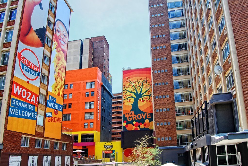 Braamfontein, a central suburb of Johannesburg