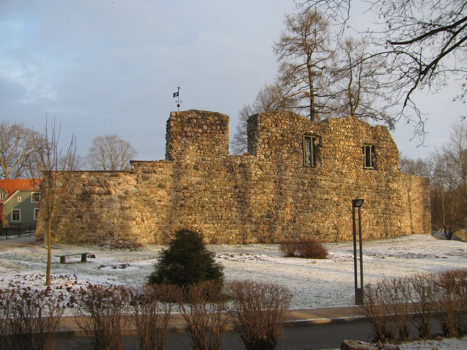 The ruins of Valmiera Castle