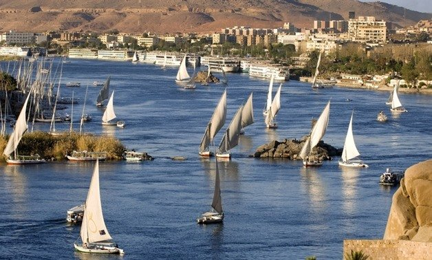 Sail boats on the Nile River