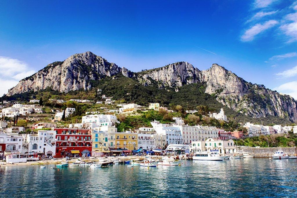 Colorful Port of Capri