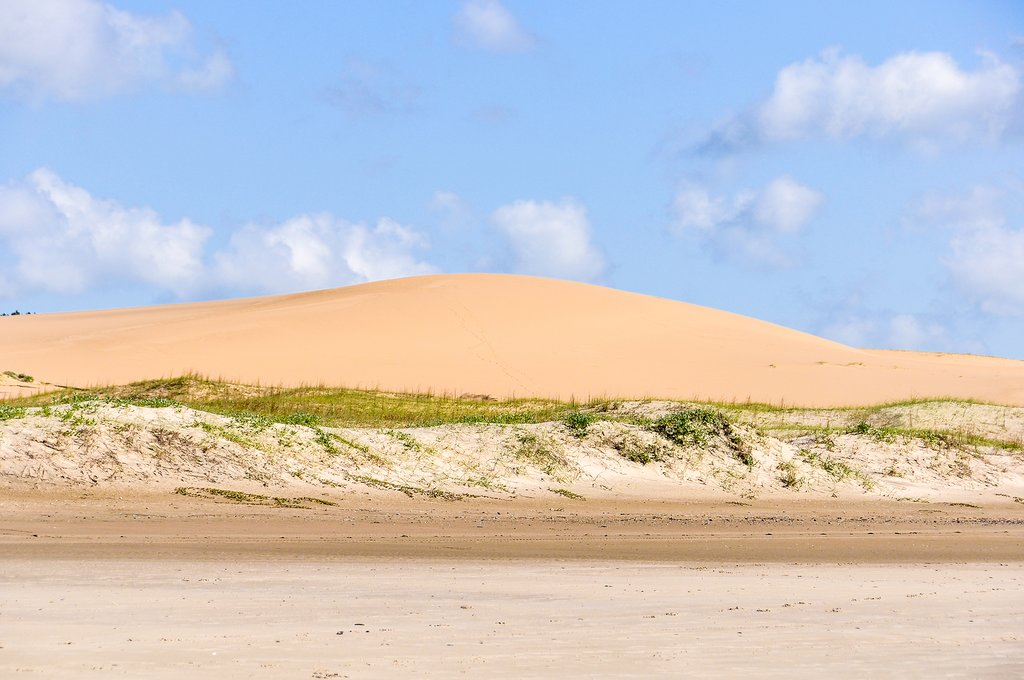 Sand dunes in Cabo Polonia