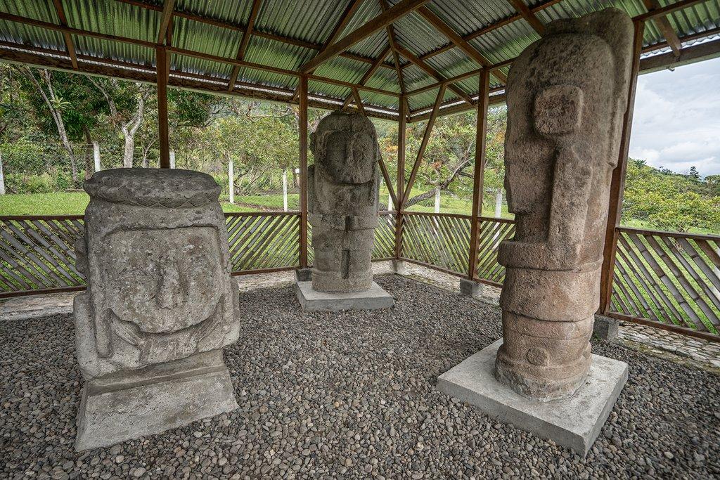 Stone idols at Tierradentro