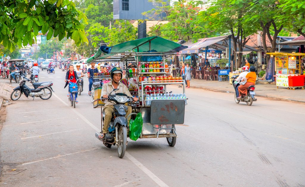 Enjoy one last wander through the streets of Siem Reap