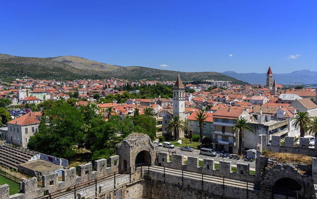 Croatia - Trogir - View over the island from Kamerlengo Fortress