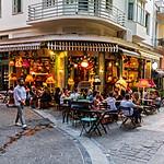 An Athenian outdoor cafe