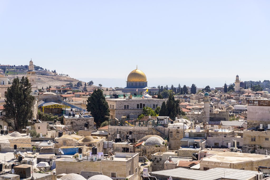 Temple Mount in old city of Jerusalem
